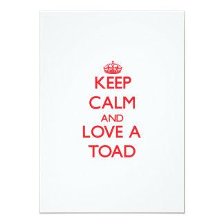 Keep calm and Love a Toad 13 Cm X 18 Cm Invitation Card