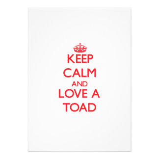 Keep calm and Love a Toad Invite