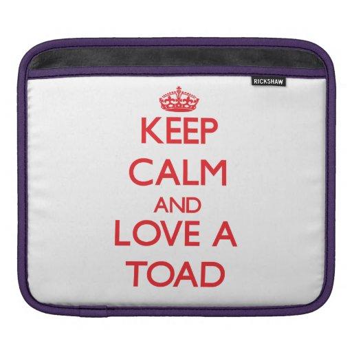 Keep calm and Love a Toad iPad Sleeves