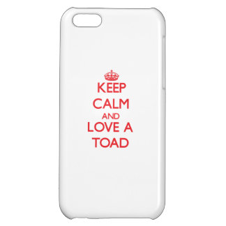 Keep calm and Love a Toad iPhone 5C Covers