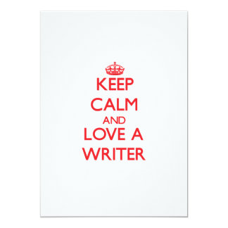 Keep Calm and Love a Writer Personalized Invite