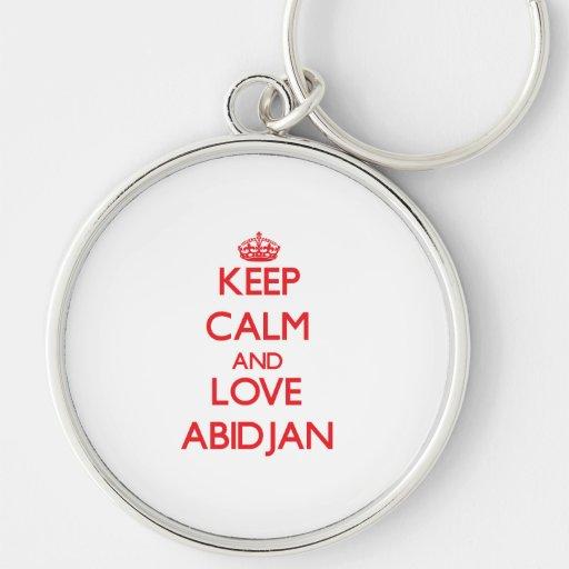 Keep Calm and Love Abidjan Key Chains
