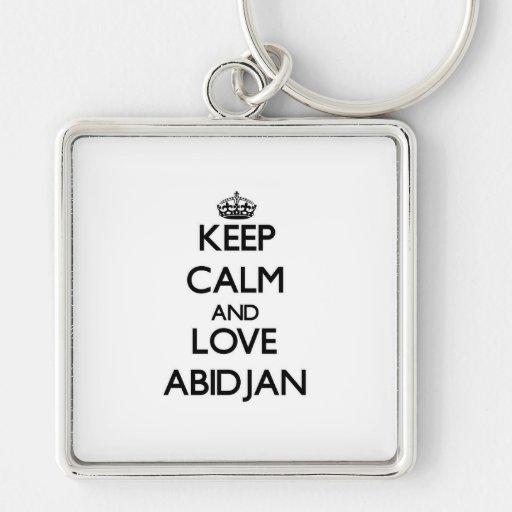 Keep Calm and love Abidjan Keychains