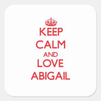 Keep Calm and Love Abigail Square Sticker