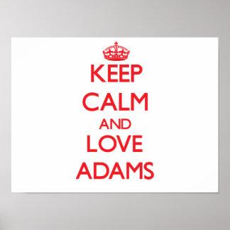 Keep calm and love Adams Print