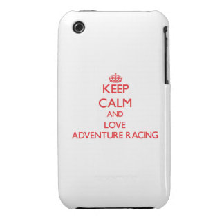 Keep calm and love Adventure Racing iPhone 3 Case