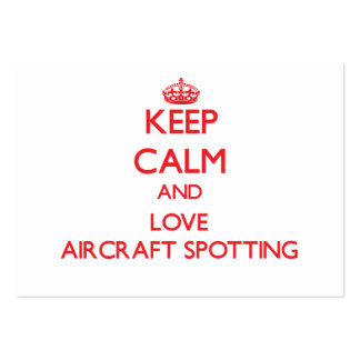Keep calm and love Aircraft Spotting Business Card Template