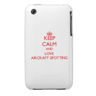 Keep calm and love Aircraft Spotting iPhone 3 Case-Mate Cases