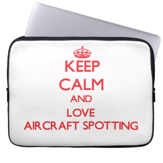 Keep calm and love Aircraft Spotting Laptop Sleeves