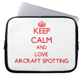 Keep calm and love Aircraft Spotting Laptop Sleeve