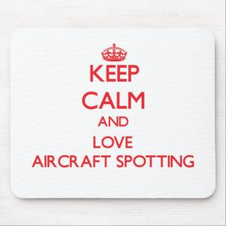 Keep calm and love Aircraft Spotting Mousepad