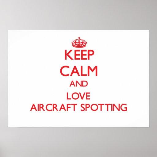 Keep calm and love Aircraft Spotting Print