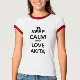 Keep calm and love Akita T-Shirt