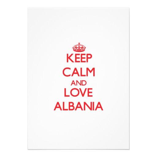 Keep Calm and Love Albania Cards