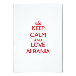 Keep Calm and Love Albania 13 Cm X 18 Cm Invitation Card