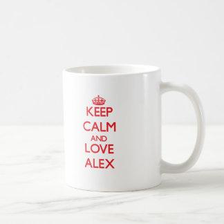 Keep Calm and Love Alex Coffee Mug