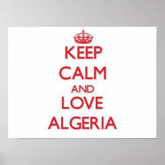Keep Calm and Love Algeria Poster
