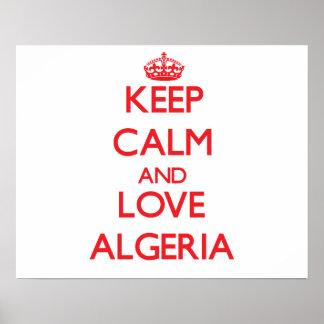 Keep Calm and Love Algeria Print