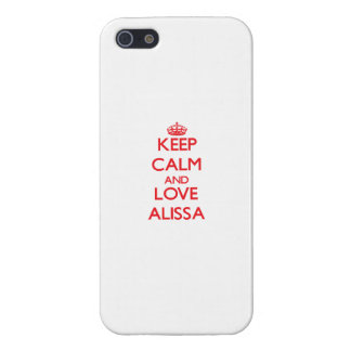 Keep Calm and Love Alissa Cover For iPhone 5/5S