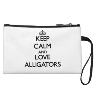 Keep calm and Love Alligators Wristlet Clutches