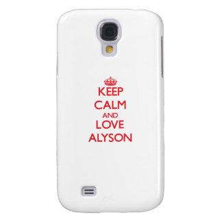 Keep Calm and Love Alyson Galaxy S4 Case