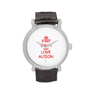 Keep Calm and Love Alyson Wristwatches