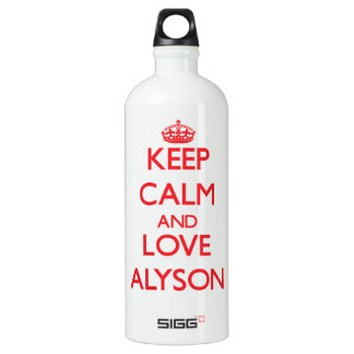 Keep Calm and Love Alyson SIGG Traveler 1.0L Water Bottle