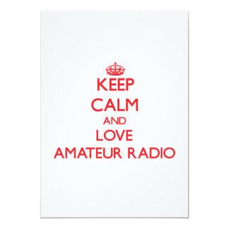 Keep calm and love Amateur Radio 13 Cm X 18 Cm Invitation Card