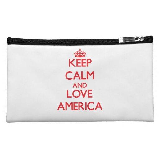 Keep Calm and Love America Makeup Bag