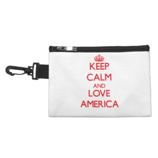 Keep Calm and Love America Accessory Bags