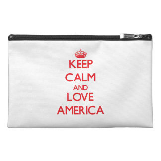 Keep Calm and Love America Travel Accessory Bags