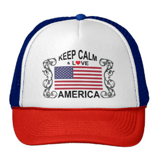 Keep Calm And Love America Hat