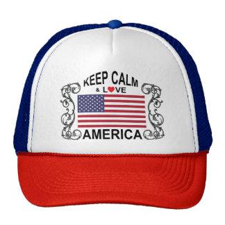 Keep Calm And Love America Hat