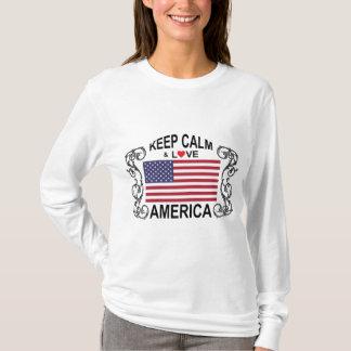 Keep Calm And Love America Long Sleeve T-Shirt