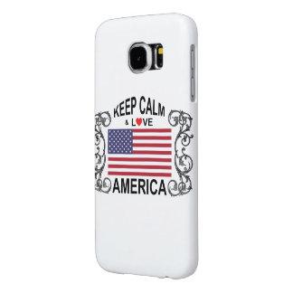 Keep Calm And Love America Samsung Galaxy S6 Cases