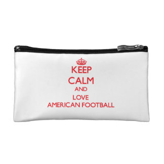 Keep calm and love American Football Cosmetic Bag