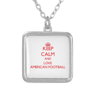 Keep calm and love American Football Pendant
