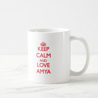 Keep Calm and Love Amya Basic White Mug