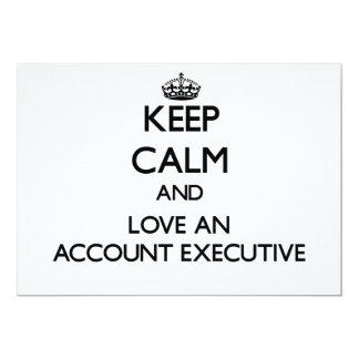 "Keep Calm and Love an Account Executive 5"" X 7"" Invitation Card"