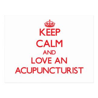 Keep Calm and Love an Acupuncturist Postcard