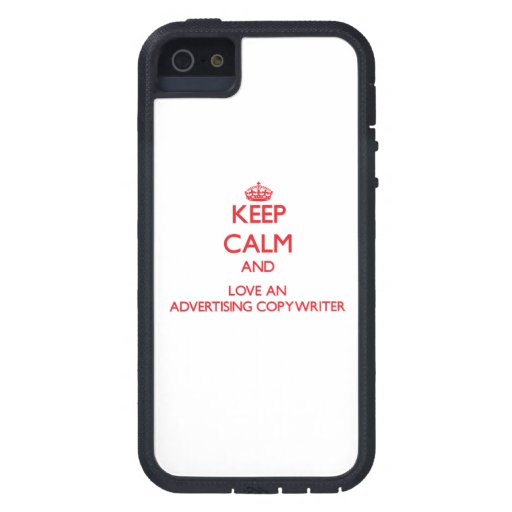 Keep Calm and Love an Advertising Copywriter iPhone 5 Cover