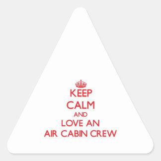 Keep Calm and Love an Air Cabin Crew Stickers