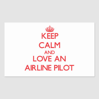 Keep Calm and Love an Airline Rectangle Sticker