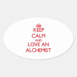 Keep Calm and Love an Alchemist Sticker