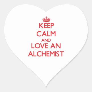 Keep Calm and Love an Alchemist Heart Stickers