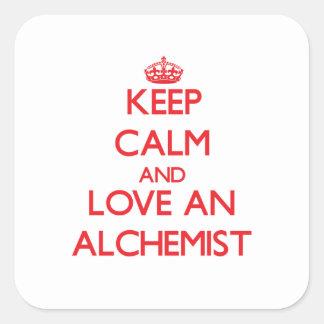 Keep Calm and Love an Alchemist Square Sticker