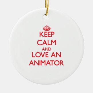Keep Calm and Love an Animator Christmas Ornament
