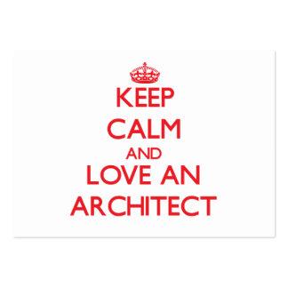Keep Calm and Love an Architect Business Card Templates