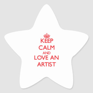 Keep Calm and Love an Artist Star Stickers