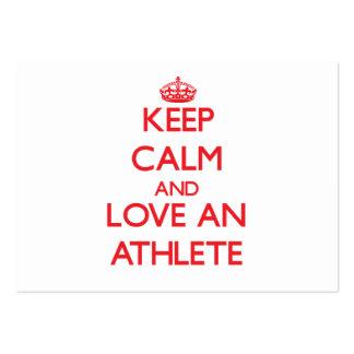 Keep Calm and Love an Athlete Business Card Templates